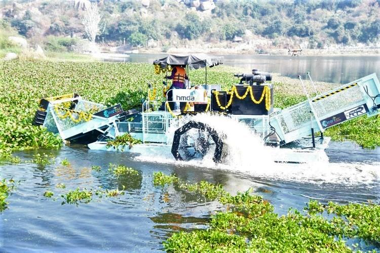 Hyderabad gets floating trash collectors to clean lakes but will this solve pollution