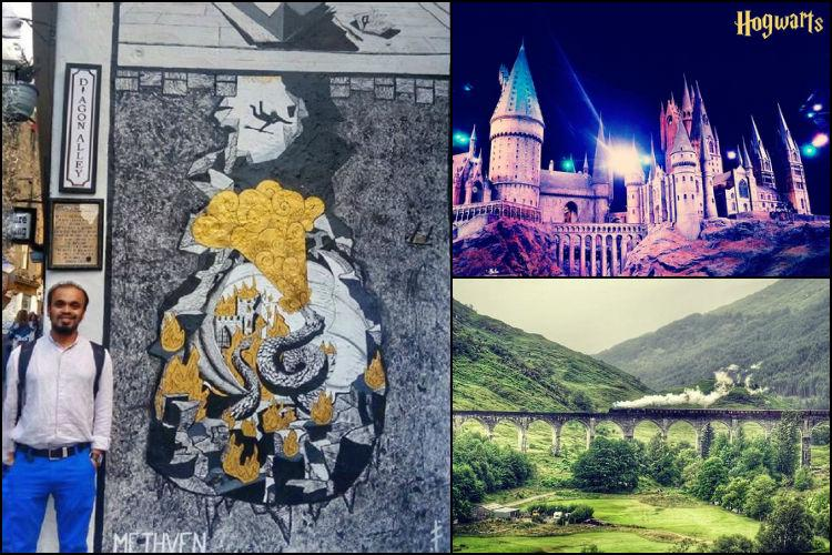 Indian techie on Harry Potter trail in the UK his photos will fill ye muggles with envy