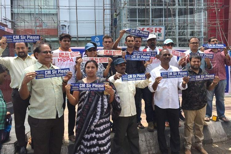 Stop the loot Telangana parents take to sticker campaign to protest against school fee hike