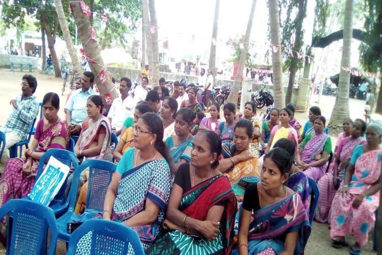 5 months since we got salaries Health workers from AP tribal agency area protest