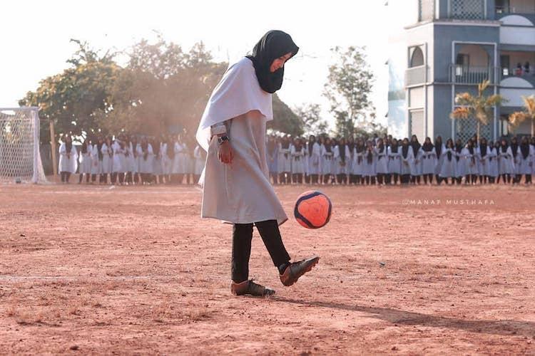 Meet Hadiya Kerala student whose freestyle moves have stunned states football fans