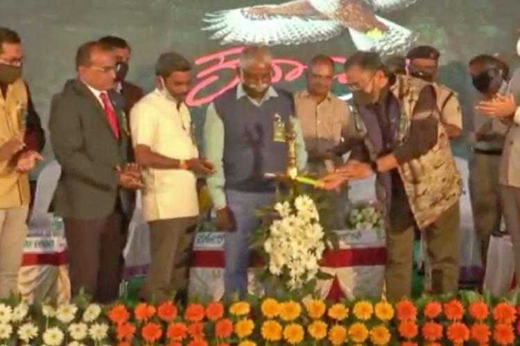 The inaugural event of the Hakki Habba at BRT Tiger Reserve