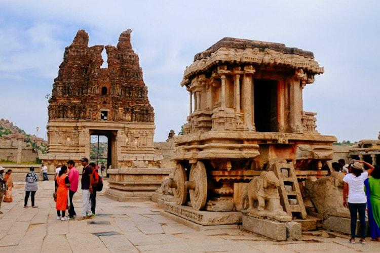 Heavy rains cause partial collapse of Hampi heritage structure