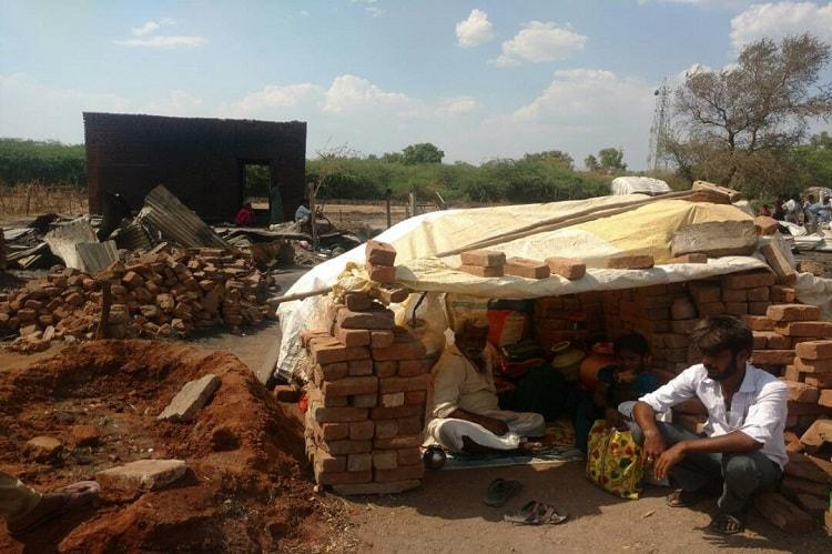 72 houses gutted in Ktaka village after lightening strikes haystack