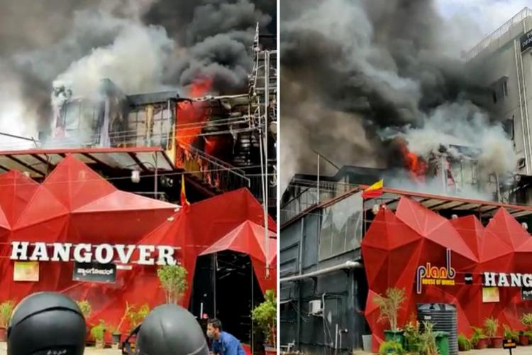 Hangover pub in HSR Layout caught fire