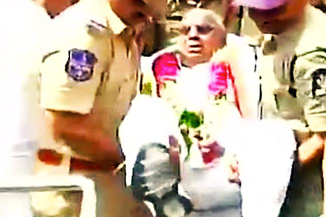 Former Congress MP Hanumantha Rao carried away by police day after humiliating cop on duty