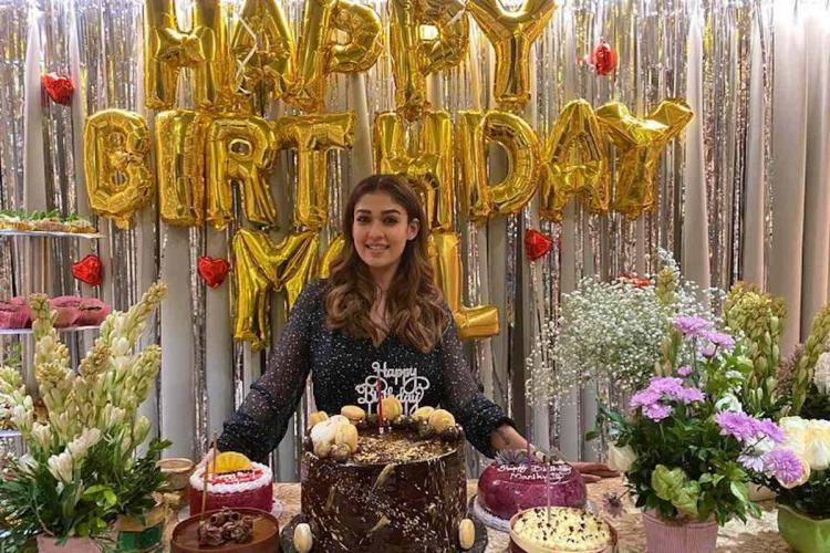 Nayanthara surprise birthday celebration in gold and silver theme