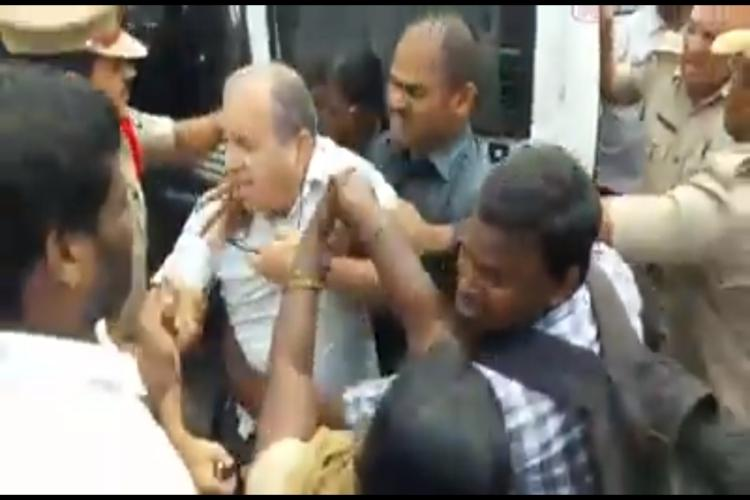 Activist-educationist Prof Haragopal manhandled as Hyd cops crackdown on protest