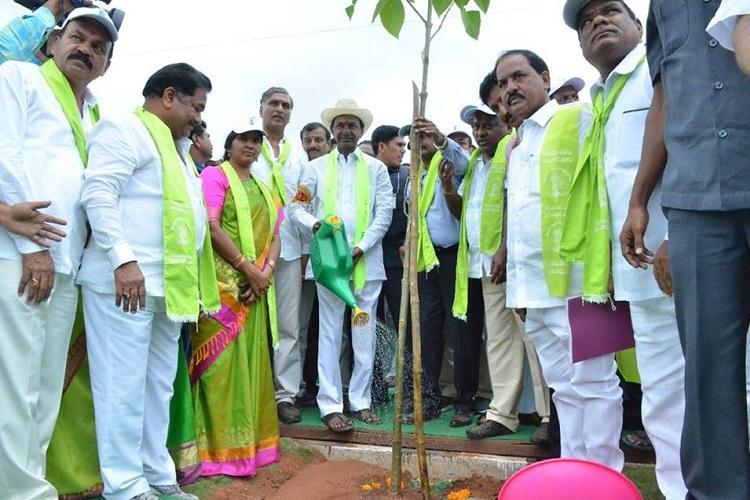 Haritha Haram Telangana CM KCR launches phase 4 of massive plantation drive
