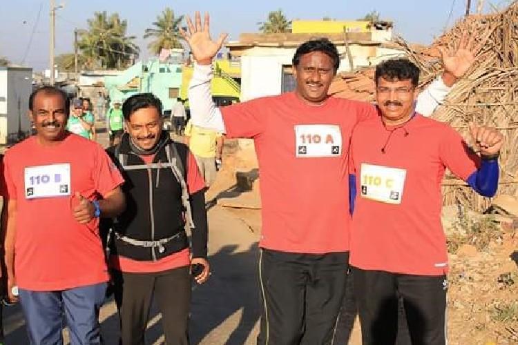 Four friends one goal Walking 100 kilometres in 24 hours