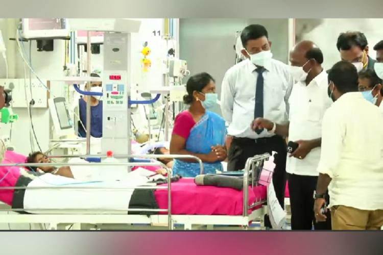 Tamil Nadu Health Minister Ma Subramanian meeting Isakiammal