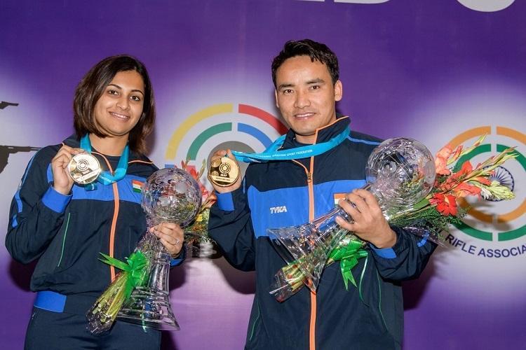 Shooters Jitu Rai Heena Sidhu win gold in mixed team event at ISSF World Cup