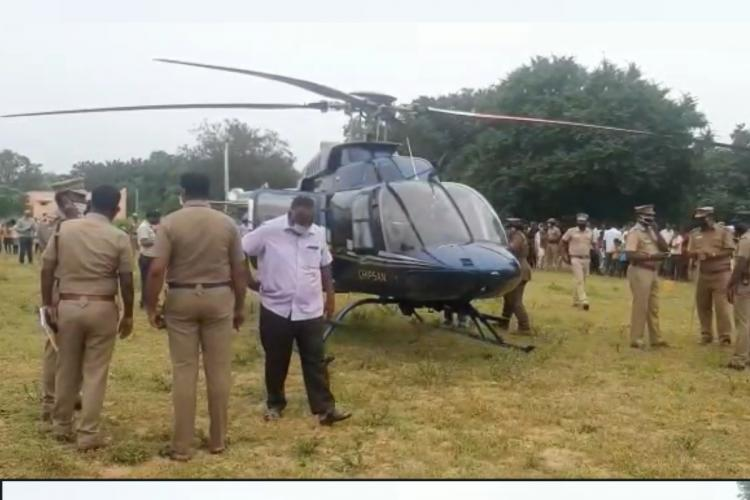 Private chopper makes unexpected landing in TN village