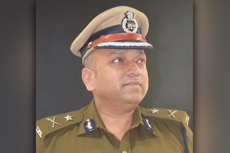 IPS Hemant Nimbalkar in uniform, looking away from camera