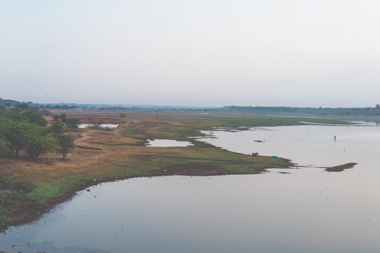 The Hesaraghtta Grassland and the lake