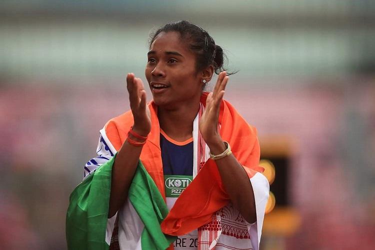 Karnataka Dy CM awards Rs 10 lakh to gold medal winning athlete Hima Das