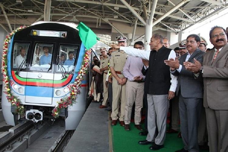 Hyderabad Metro rolls into IT hub as Governor flags off Ameerpet-Hitec city stretch