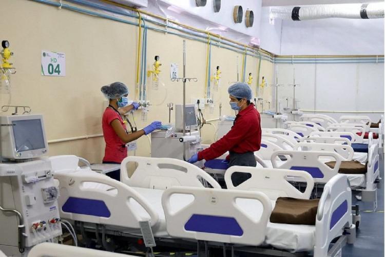 A hospital in Maharashtra with empty beds