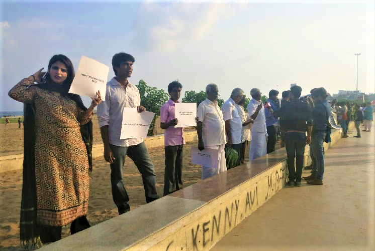 Residents of Chennai form human chain to Save Ennore Creek