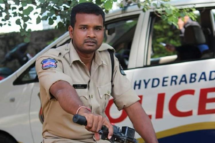 Hyderabad cop caught on camera inappropriately touching protesting doctor suspended