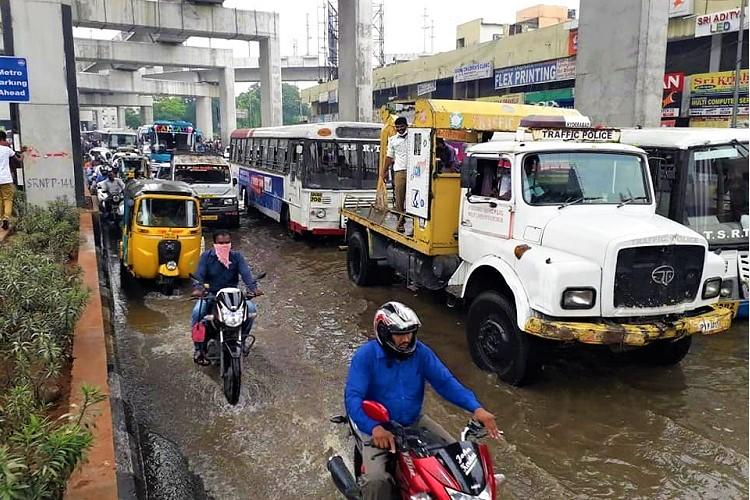 Hyderabad or Venice Citizens irked after heavy rain inundates roads