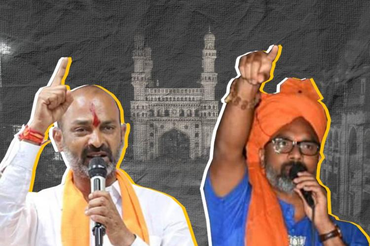 BJP state Chief Bandi Sanjay and Nizamabad MP Arvind Dharmpauri in GHMC campaign