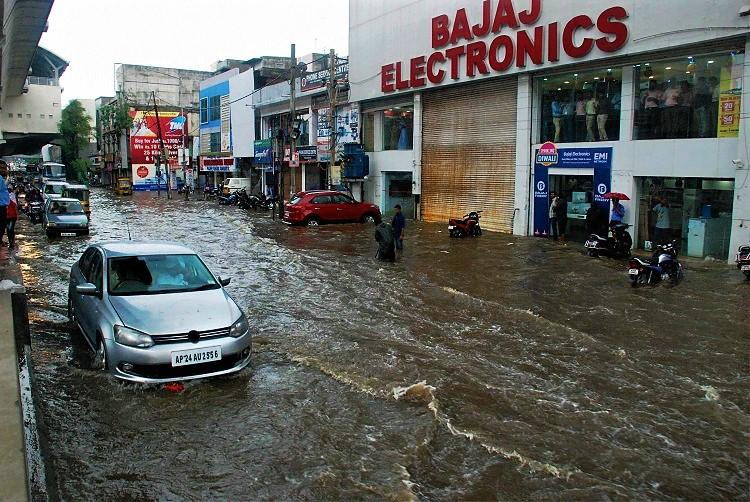 Heavy rain in Hyderabad floods parts of zoo IMD says showers to continue