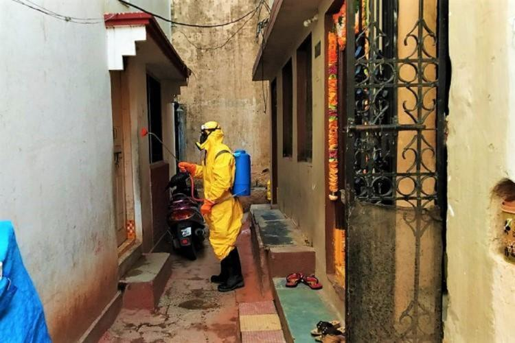 Frontline worker amid the coronavirus pandemic in India
