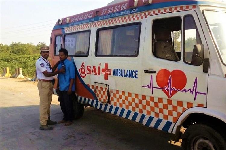 Two ambulance drivers caught driving drunk in Hyderabad