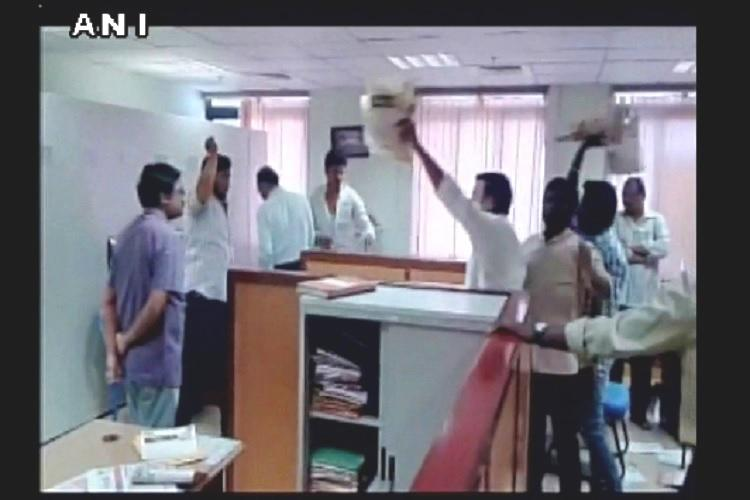 Dalit students vandalise Hyderabad censor board office after film on caste doesnt get clearance