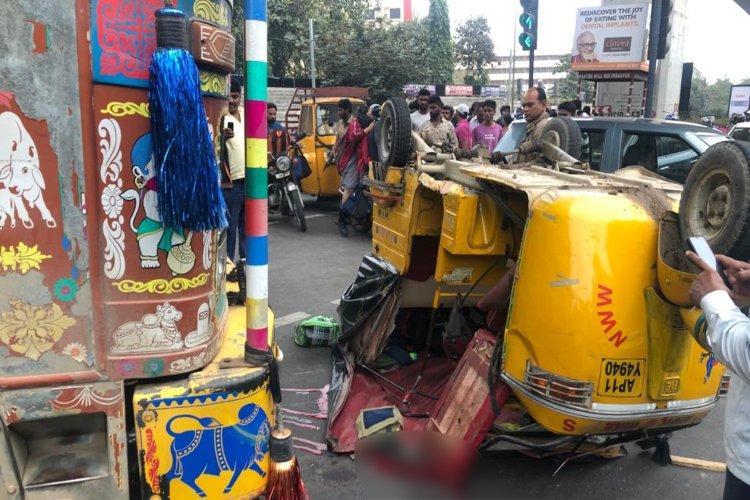 Hyderabad schoolboy killed as lorry rams into autorickshaw