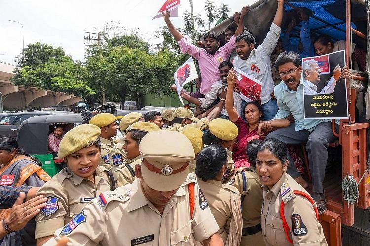 House arrest for Telugu poet Varavara Rao and 2 others Pune court orders