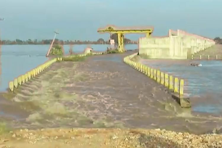 Hydel power plant submerged in north Karnatakas Kalaburagi due to floods