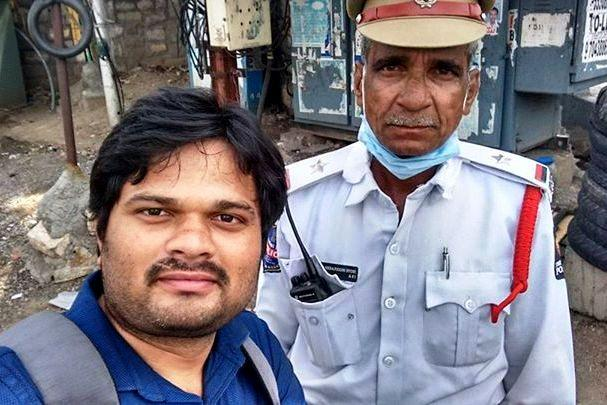 Meet the Hyderabad cop who helps riders with free petrol