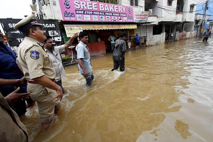 Hyderabad Rains Army NDRF begin rescue relief work in affected areas