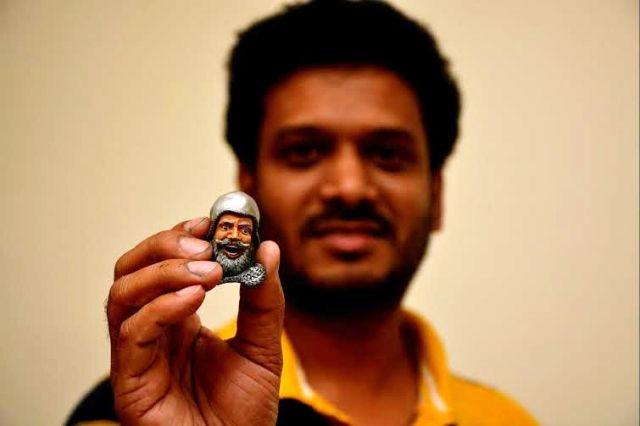 Meet the Hyderabad techie who makes sculptures with his sons toys