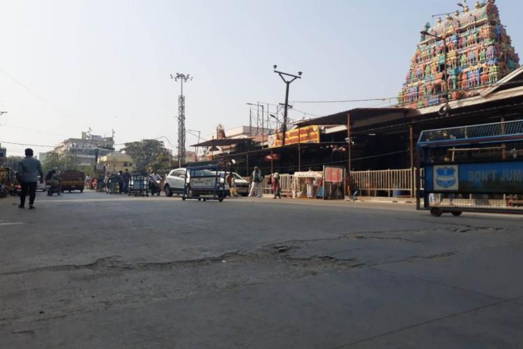 Hyderabad VDCC road which is cracked after a year of use