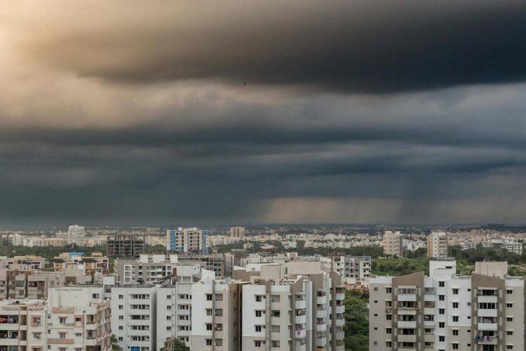 Cloudy sky in Hyderabad