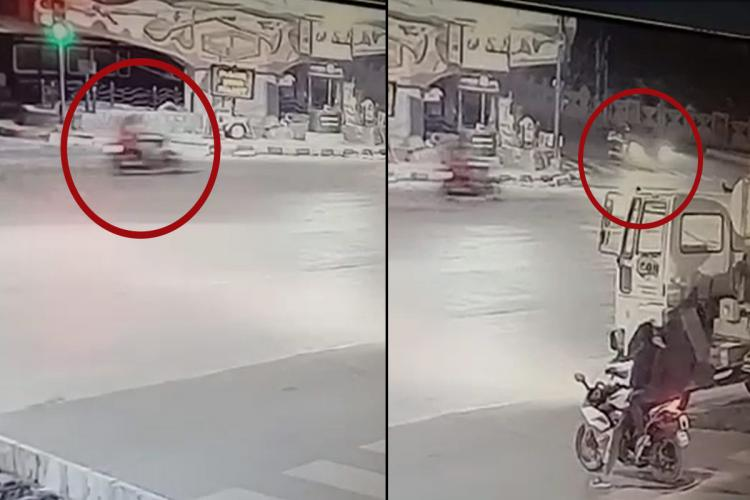 Screenshot from the CCTV video