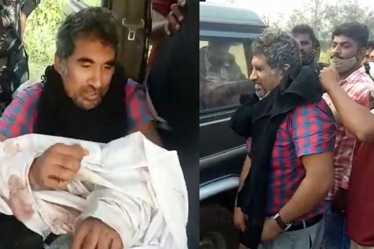 The dentist was seen tied up his hands and was put in a the vehicle and in another part the doctor was seen being released