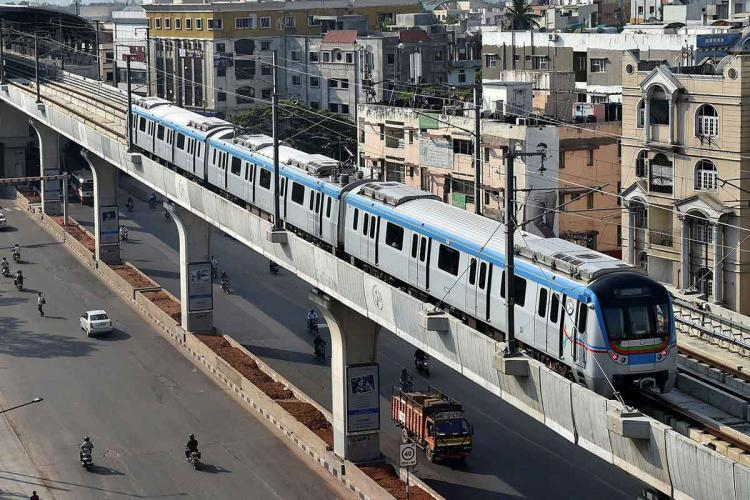 Hyderabad Metro officials have advised passengers to strictly follow COVID-19 safety guidelines including social distancing
