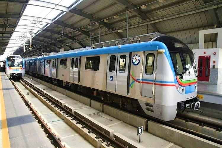 On first anniversary Hyd Metro conducts trial run from Ameerpet to Hitec city