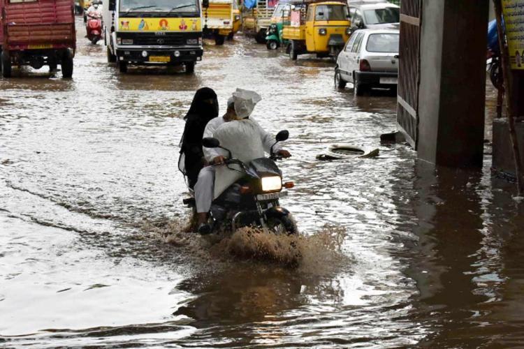 Heavy rains reported across Telangana orange alert issued for Hyderabad