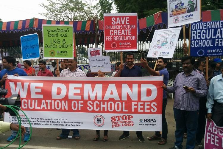 Fight against excess fees Two Hyderabad private schools booked for violating govt rules