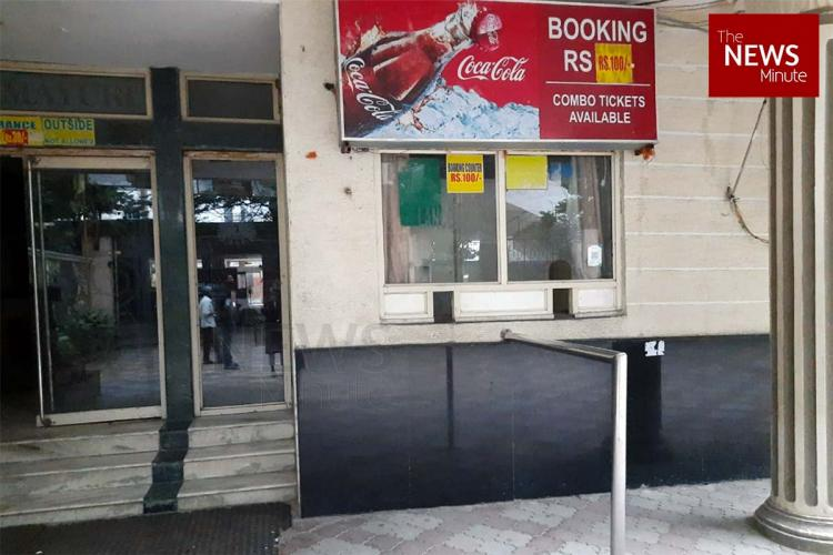 A booking counter at a theatre in Hyderabad