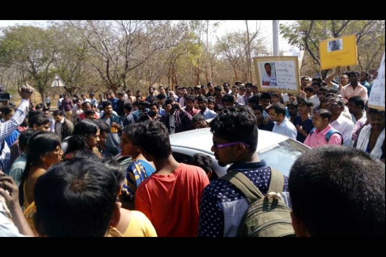 YSR CP and CPI M ask for action against Hyderabad University VC