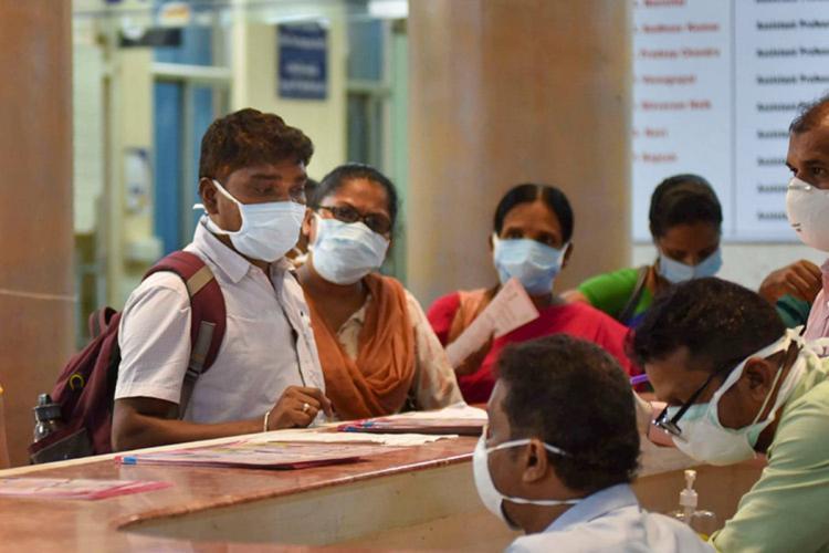 Visitors at Gandhi General Hospital in Hyderabad