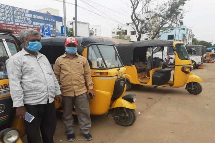 There were not many takers for auto drivers along the metro route to Miyapur