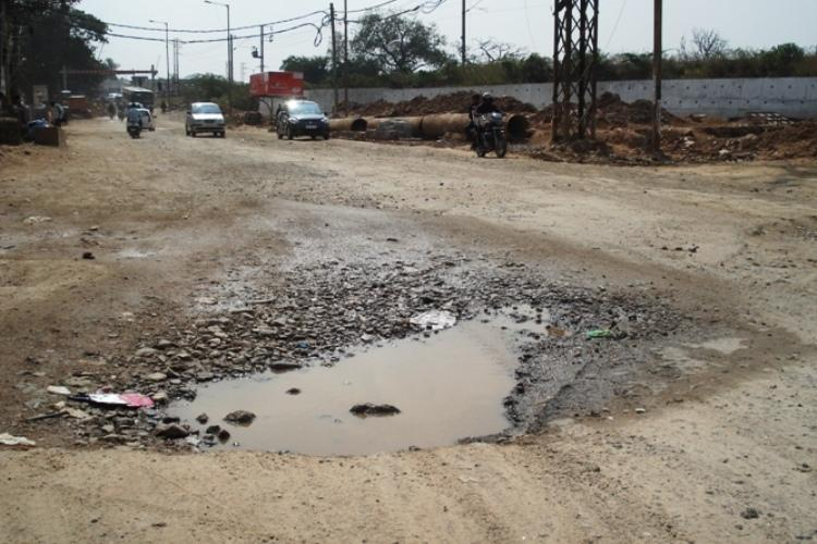 Please wake up officials Mr President Desperate Hyderabadis plead for better roads