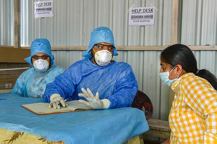 A coronavirus helpdesk in Hyderabad